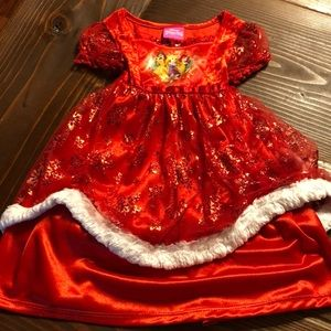 DISNEY princess 12 mth red white infant nightgown